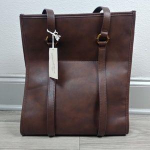 Universal Thread Handbag Harper Tote Brown Leather
